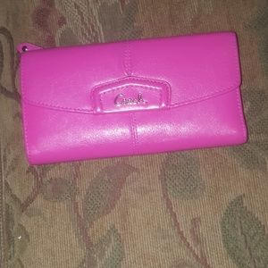 Coach wallet and checkbook holder